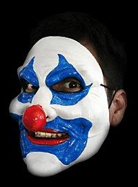 Clownsmaske blau mit beweglichem Mund