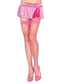 Coarsely Meshed Fishnet Stockings neonpink