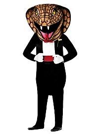 Cobra en costume Mascotte
