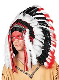 Coiffe en plumes apache
