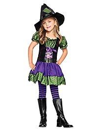 Collants à rayures violettes et noires enfant