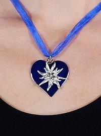 Collier Edelweiss bleu