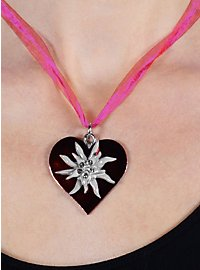 Collier Edelweiss rose