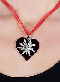 Collier Edelweiss rouge