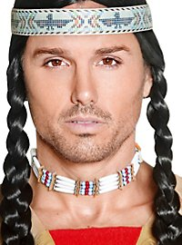 Collier indien de perles en bois