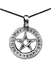 Collier pentagramme avec runes