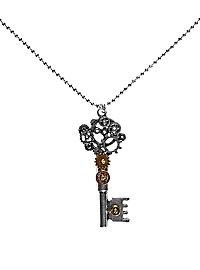 Collier steampunk clef