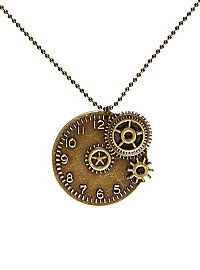 Collier steampunk horloge
