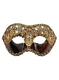 Colombina 1/2 macrame cuoio - Venezianische Maske