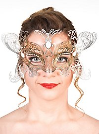 Colombina Angelo oro Venetian Metal Mask