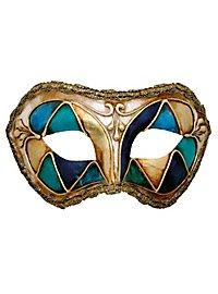 Colombina arlecchino blu - Venetian Mask