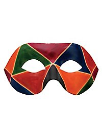 Colombina Arlecchino de cuoio Venetian Leather Mask