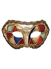 Colombina arlecchino multicolore - masque vénitien