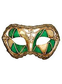 Colombina arlecchino verde - masque vénitien