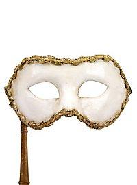 Colombina bianco con bastone - Venezianische Maske