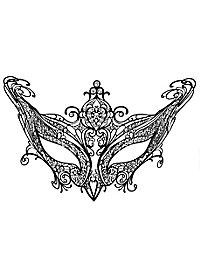Colombina Contessa de metallo nero Venetian Metal Mask