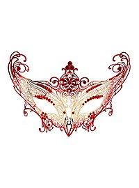 Colombina Contessa de metallo oro rosso Venetian Metal Mask
