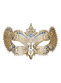 Colombina Duchessa de metallo aureo Venezianische Metallmaske