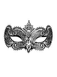 Colombina Duchessa de metallo nero Metal Venetian Mask