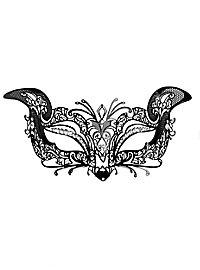 Colombina Gatta de metallo nero Venetian Metal Mask