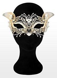 Colombina Gatta de metallo oro argento Venetian Metal Mask