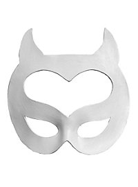 Colombina Gattara white Venetian Leather Mask