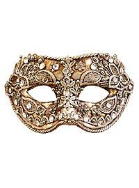 Colombina macrame argento - masque vénitien