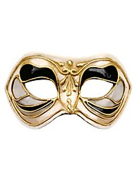 Colombina Monica nero bianco - masque vénitien