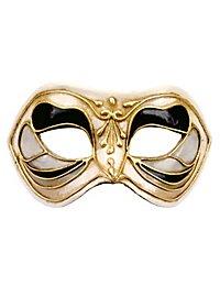 Colombina Monica nero bianco - Venezianische Maske