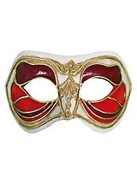 Colombina Monica rosso bianco - masque vénitien