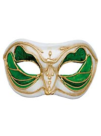 Colombina Monica verde bianco - masque vénitien