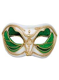 Colombina Monica verde bianco - Venezianische Maske