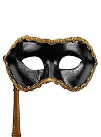 Colombina nero con bastone Venezianische Maske