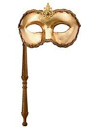 Colombina oro con bastone - Venetian Mask