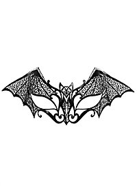 Colombina Pipistrello de metallo nero Venezianische Metallmaske