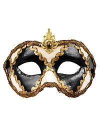 Colombina scacchi bianco nero - Venezianische Maske