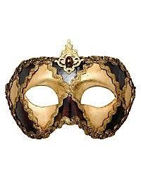 Colombina scacchi oro cuoio - masque vénitien
