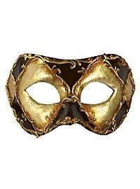 Colombina scacchi oro cuoio stucco - masque vénitien