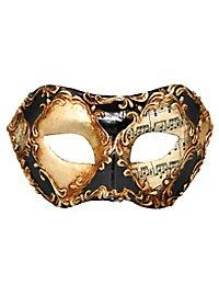Colombina scacchi oro cuoio stucco musica - Venetian Mask