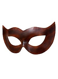 Colombina Spiona brown Venetian Leather Mask