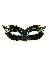 Colombina velluto mezzo nero Venezianische Maske