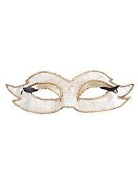 Colombina veluto mezzo bianco Venetian Mask