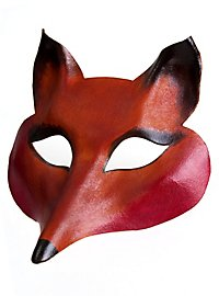 Colombina Volpe Femmina de cuoio Venetian Leather Mask