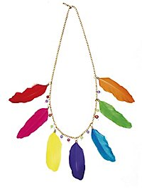 Coloured feather chain
