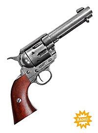 Revolver - Colt Peacemaker 1873, silber mit Dekopatronen