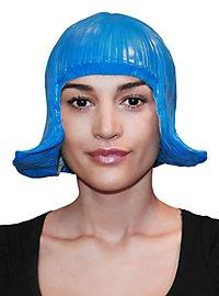 Comic Lady Latex Wig blue