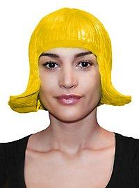 Comic Lady Latexperücke gelb