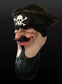 Comic Pirat Maske aus Latex
