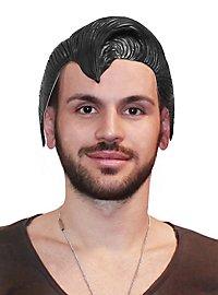 Comic Rocker latex wig black