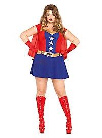 Comic Superheldin XXL Kostüm